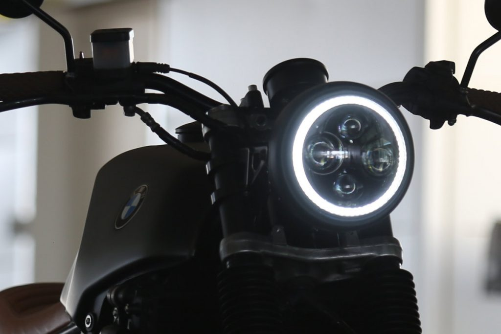 lights option cafe racer motorbike