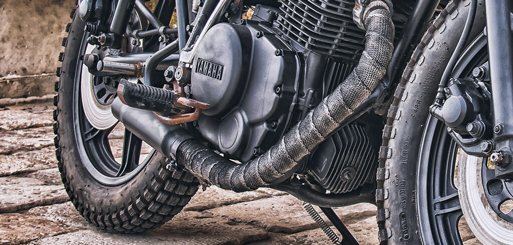 how to wrap your motorcycle exhaust