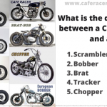 What Is the difference between a Cafe Racer and a Scrambler vs Bobber, Tracker, Brat, Chopper?