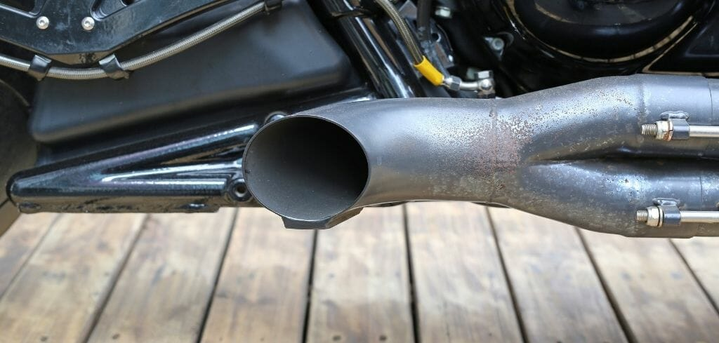 Cafe Racer Exhaust, Side Pipe